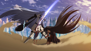 Akame kills Esdeath during the epic final battle, overcoming her trump card