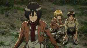 Mikasa Defending Eren